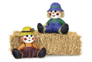 Raggedy Ann & Andy on Haybale
